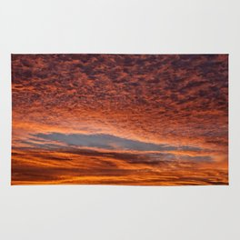 Red sunset in Senigallia Rug