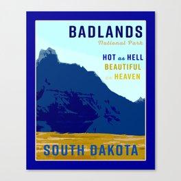 South Dakota Travel Canvas Print