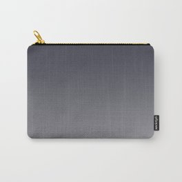 Navy Blue and Grey Gradient Blend Pantone 2021 Color of the Year Ultimate Gray 17-5104 Carry-All Pouch