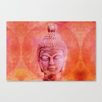 buddha Canvas Prints featuring Buddha by LebensART