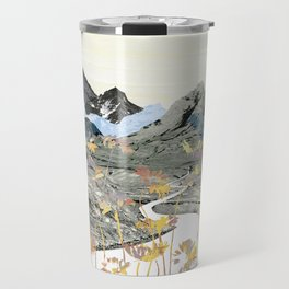 Daisy Mountain - Art Collage Travel Mug