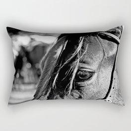Horse-1-B&W Rectangular Pillow