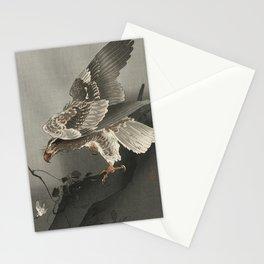 Ohara Koson, Eagle Watching A Prey - Vintage Japanese Woodblock Print  Stationery Cards