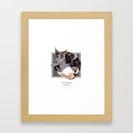 Vectorial Feline Framed Art Print