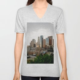 DTLA sunset Unisex V-Neck