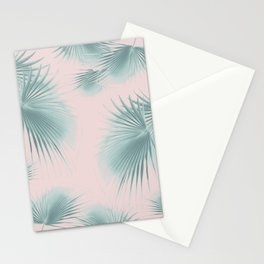 Fan Palm Leaves Paradise #6 #tropical #decor #art #society6 Stationery Cards