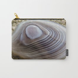 Clam shell Agate Carry-All Pouch