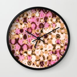 Liquid Pink Tan Wall Clock