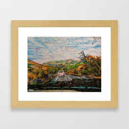 oregon road Framed Art Print