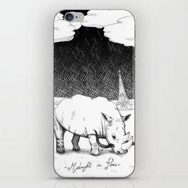Rhino during Midnight in Paris iPhone Skin