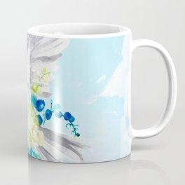 Little Bird Carries Blue Flower Coffee Mug