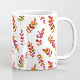 Watercolor fall robinia leaves Coffee Mug