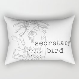 secretary bird Rectangular Pillow