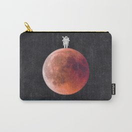 Astronaut on the Blood Moon over Earth-Space Travel Carry-All Pouch