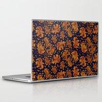 korean Laptop & iPad Skins featuring Korean Chrysanthemum - Orange by 1004kim