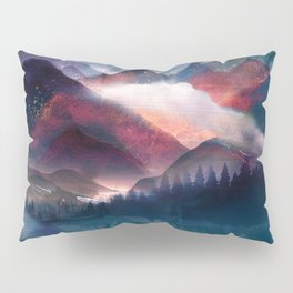 Mountain Lake Under the Stars Pillow Sham
