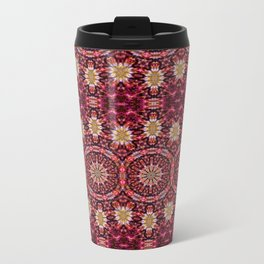 Peaceful Contemplation Pattern (red) Travel Mug