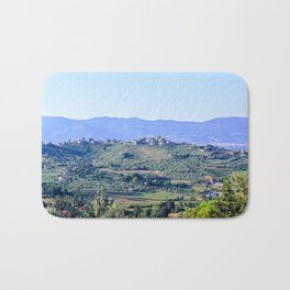 The hills of Tuscany Italy Bath Mat