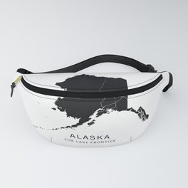Alaska State Road Map Fanny Pack