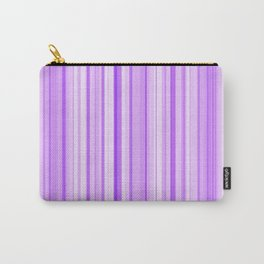 Purple Candy Stripe Carry-All Pouch