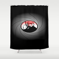 bond Shower Curtains featuring Trooper Bond by FOREVER NERD