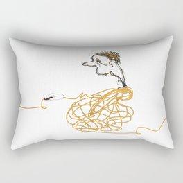 one click man Rectangular Pillow