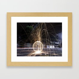 Fire In The Streets Framed Art Print