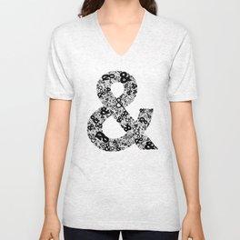Helvetica Ampersand  Unisex V-Neck