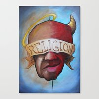 religion Canvas Prints featuring Religion by Tatstom48