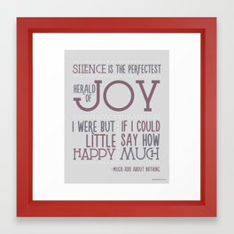 I were but little happy if I could say how much.  Framed Art Print