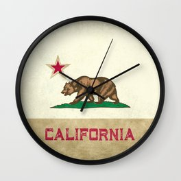 Vintage California Flag Wall Clock