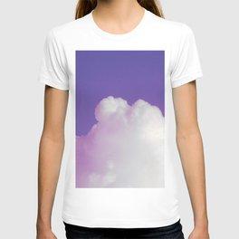 Big Fluffy Cloud Against a Purple Sky, Beautiful Cloud and Beautiful Sky T-shirt
