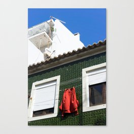 side streets in Peniche Canvas Print