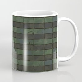 Dark Green Floor Tails Coffee Mug