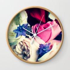 November Roses Wall Clock