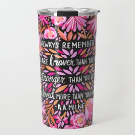 Always Remember – Pink & Charcoal Palette Travel Mug