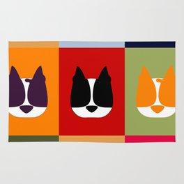 Boston Terrier (BoTe) Pop Art Style Rug
