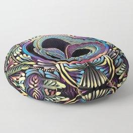 Ouroboros Mandala Floor Pillow