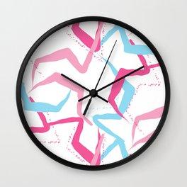 Pink blue fantasy Wall Clock
