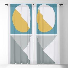 Geometric Form No.2 Blackout Curtain