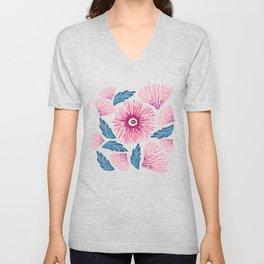Gerbera Bloom Unisex V-Neck