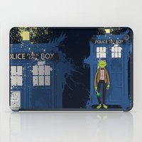 kermit iPad Cases featuring Doctor Who Kermit by Roe Mesquita