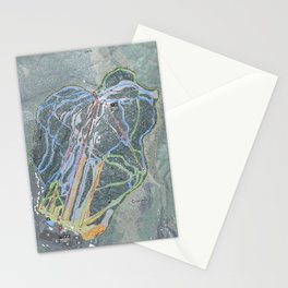 Cranmore Mountain Resort Trail Map Stationery Cards