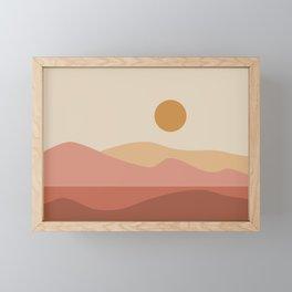 Geometric Landscape 23A Framed Mini Art Print