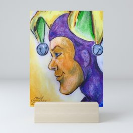 Jester  Profile From Small Painting Mini Art Print