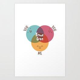 you+you+me Art Print