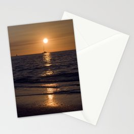 Summersunset with Boat - Warnemuende - Baltic Sea Stationery Cards