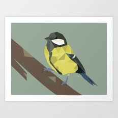 Polly - Great Tit Art Print