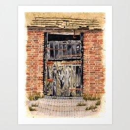 Stable Door Outside Art Print