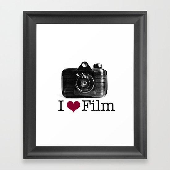 I ♥ Film Framed Art Print
